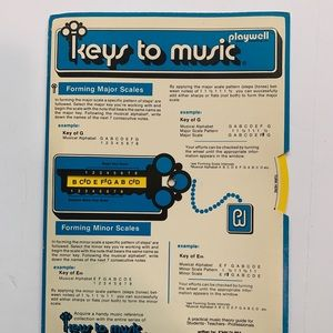 Keys to music vintage music theory guide sheet